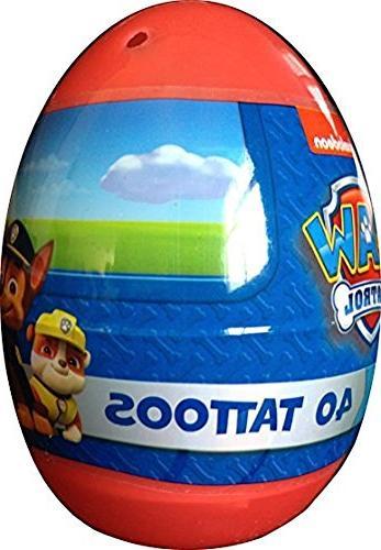 Paw Patrol 40 Tattoo Jumbo Easter Egg Nickelodeon