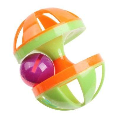 Pet Cat Crazy Ball Interactive Toys Kitten Plastic Bell Ball