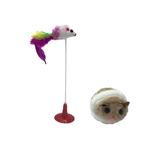 Wildgirl Pet Cats Funny Cat Toys Funny Stand Rat Toy with Su