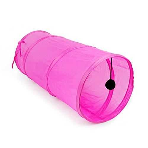 Wildgirl Pet Puppy Cat Rest Tent Collapsible Tube Funny Play