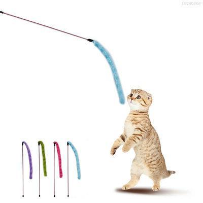 A50E Fluffy Cat Stick Toys Pet Interactive Plush