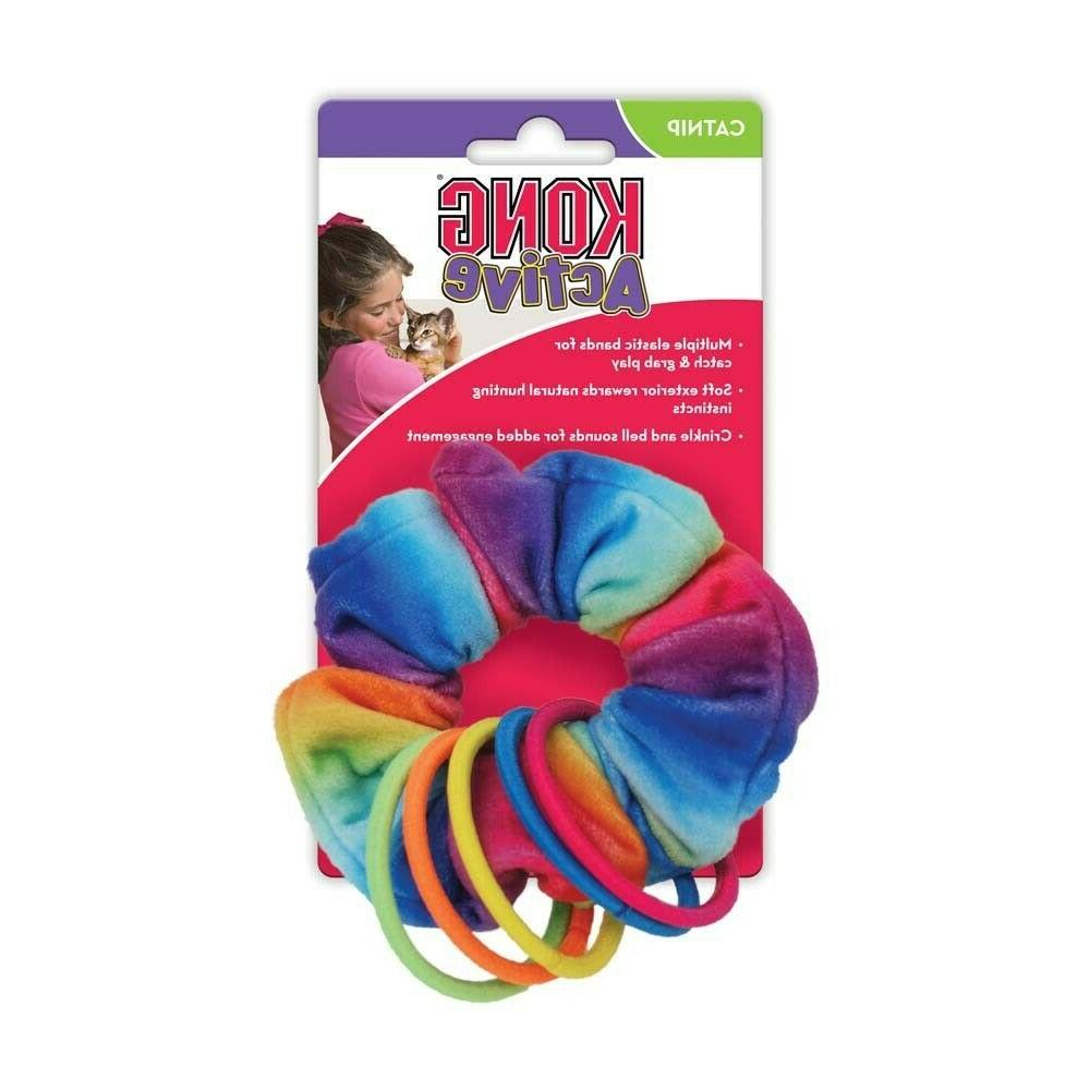 active scrunchie with cat nip cat toy