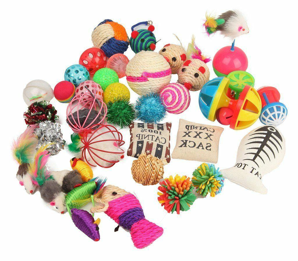 assorted cat toys variety pack for kitty