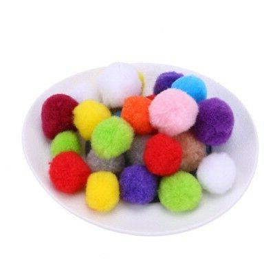 Assorted Soft Pompon Balls Kitten Interactive Toy