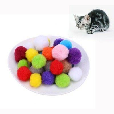 Assorted Soft Pompon Balls Kitten Interactive Toy 10-100pcs