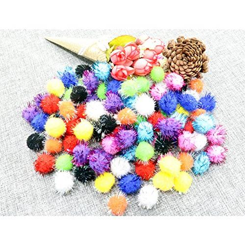 assorted sparkle balls cat toy