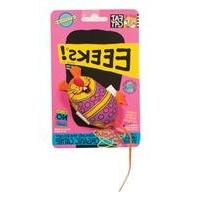 Bamboo Pet Eeeks! Kitty Hoots Chic Mouse Cat Toy