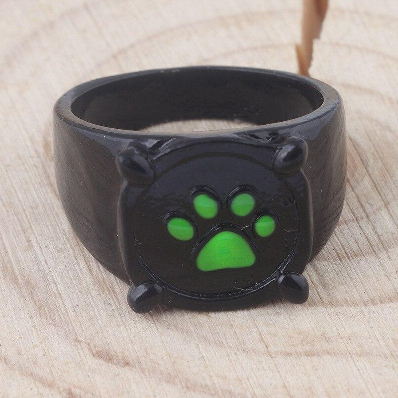 Black <font><b>Cat</b></font> Green Paw Girls Comics Gift Cosplay