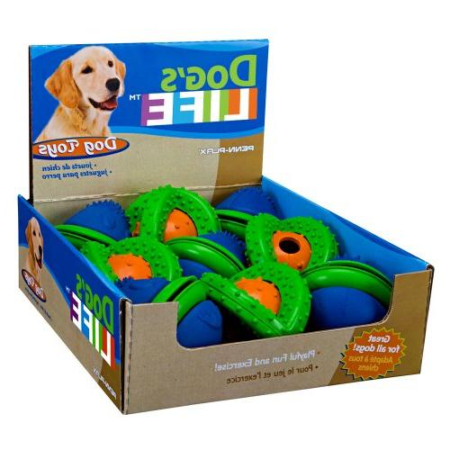 blue saturn green ball dog