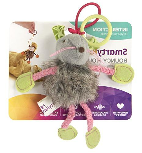bouncy mouse bungee cat toy