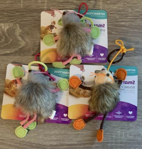 bouncy mouse interactive cat toy lot of