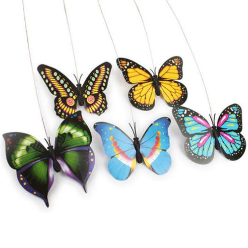 Butterfly Design Teaser Play Toy Electric Rod Pet Toys