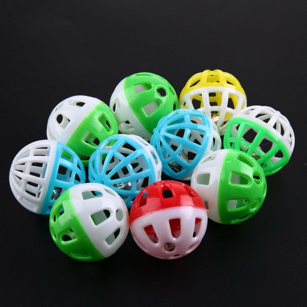 BW#A Hollow Out Pet Colorful Toys Small Bell