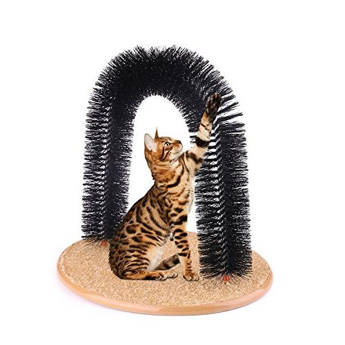 AikoPets Cat Groomer Massager Dog Cat Scratcher Toys Grooming Brush Controls with Pad and Kitten