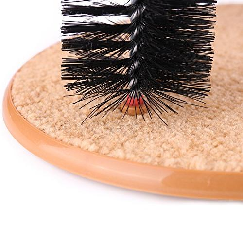 AikoPets Cat Self Groomer Massager Dog Brushes Pet Cat Scratcher Grooming Cat Brush Controls with Scratch Pad and Catnip Kitten