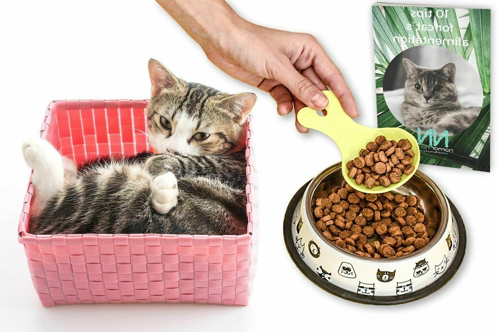 Cat Bowl Includes 2 Toys for Alimentation...