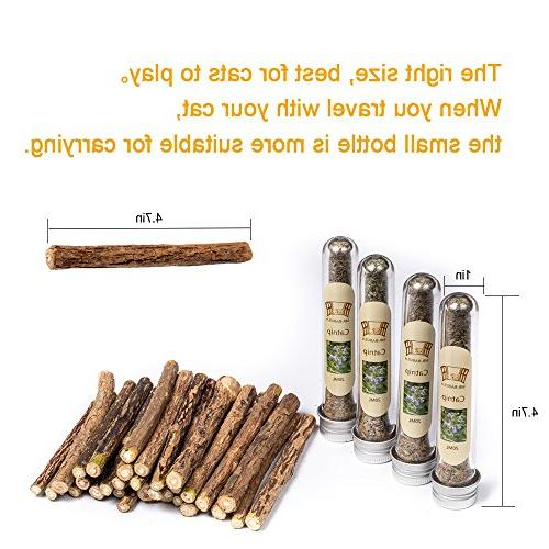 MR-BABULA Cat Catnip Toys, 100% Natural Vine/Matatabi Dental Chew +