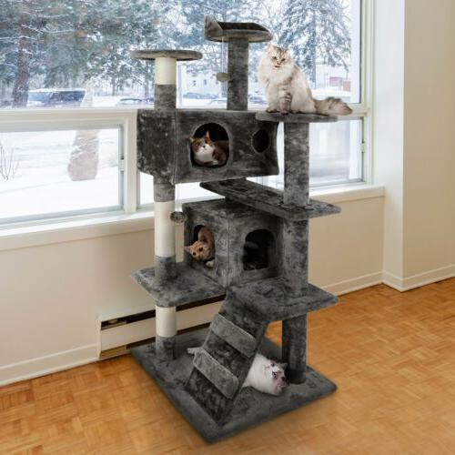 Cat Climbing Tree Tower Furniture w/Scratching Post&Toys