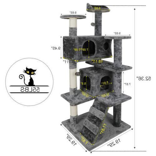 Cat Climbing Tower Scratcher Post&Toys