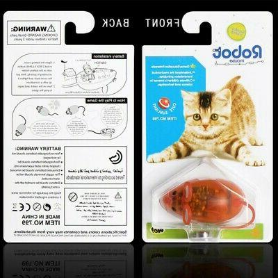 Cat False Mouse Toys Scratch Battery Powered