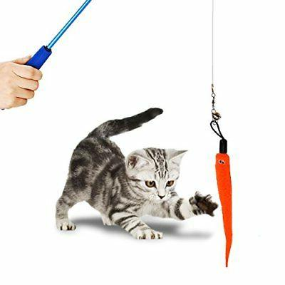 Cat Feather pcs Retractable Toy Set