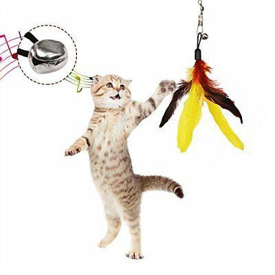 Cat pcs Interactive Cat Teaser Wand Toy Set