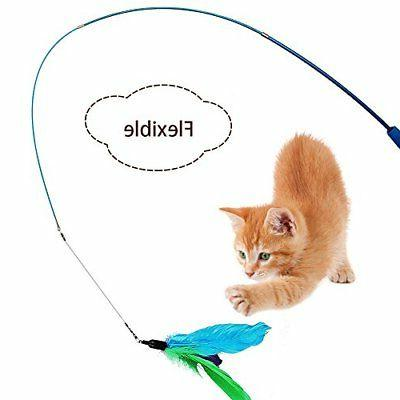 Cat Feather pcs Cat Interactive Cat Teaser Toy Set