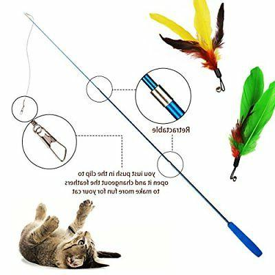 Cat Feather Toy, pcs Interactive Cat