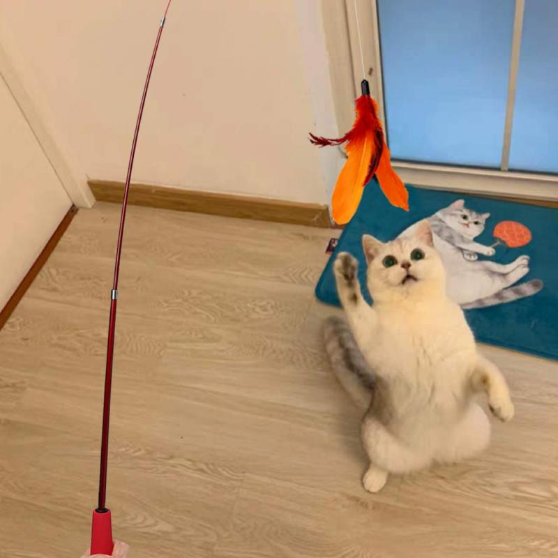 Cat Toy, Retractable Cat Wand Wands Teaser Refills,