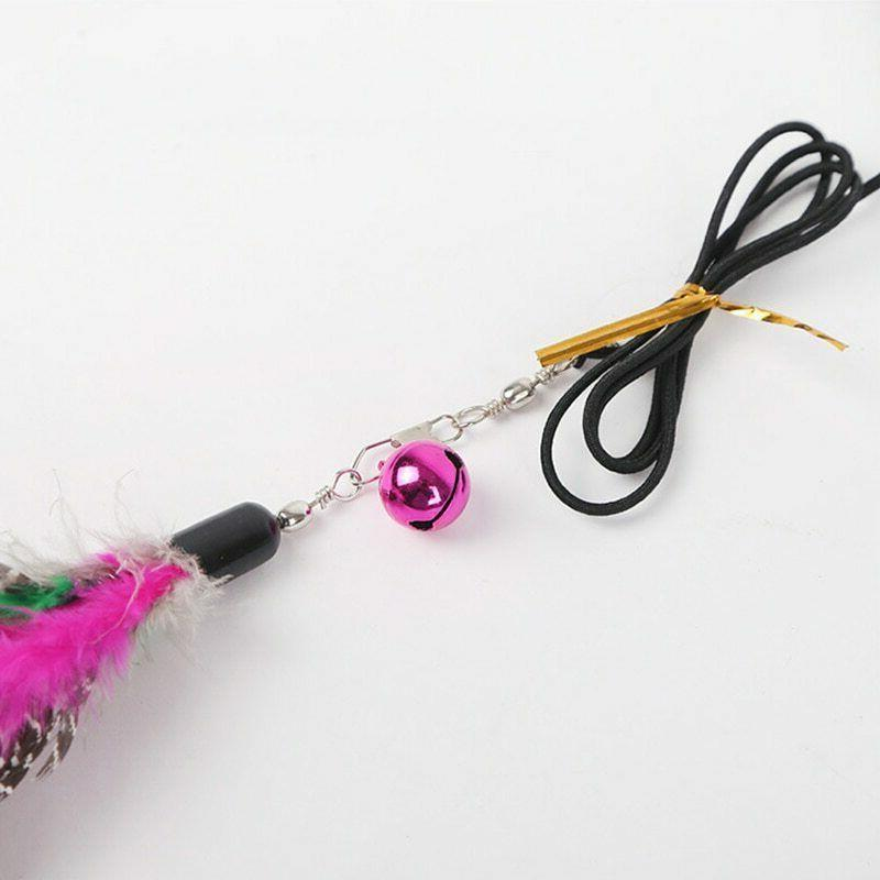 Cat Feather Teaser Wand 2pc Feathers