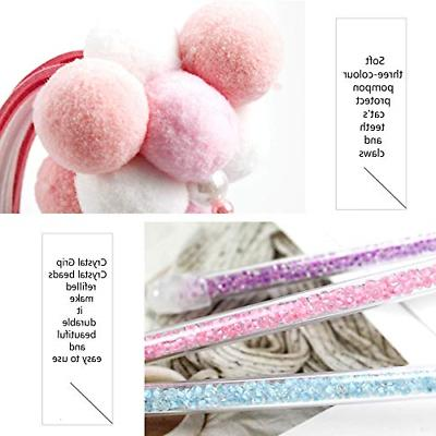Hateli Cat Interactive Teaser Wand with and Pink