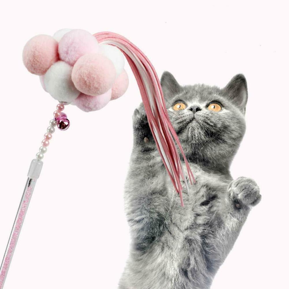 Cat Feather Teaser Toys with Bells and