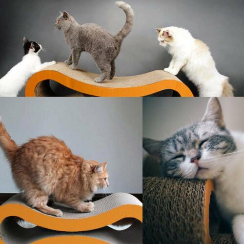 Cat Kitten Board Pad Scratcher Bed Claws