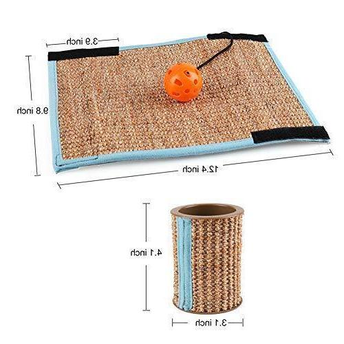 Cat Post Mat Scratcher Toy Protector
