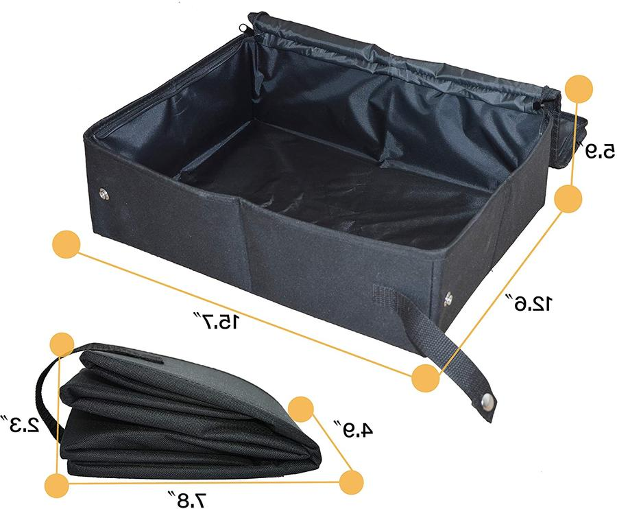 CAT LITTER BOX Portable Foldable Collapsible for Travel
