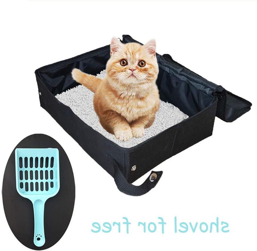 CAT LITTER BOX Portable Foldable Light for Travel PETLEADER