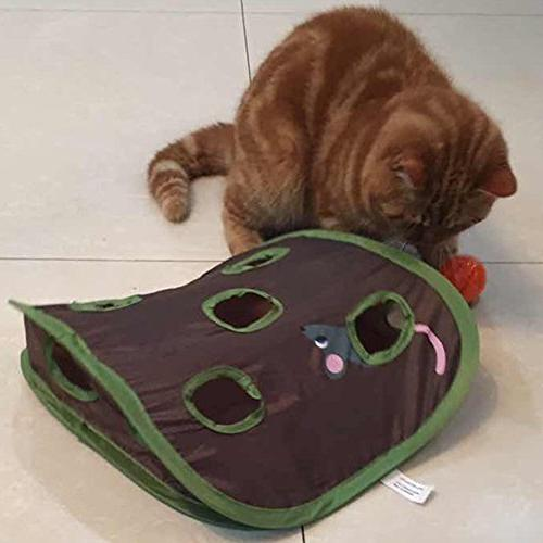 ANG Cat Hide & Game Pop-up Toy Hunt with Bell-ball
