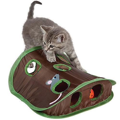 cat mice toy hide seek