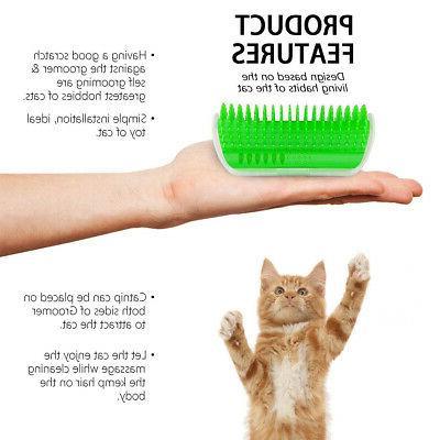Cat Pet Brush Corner Massage Comb Catnip