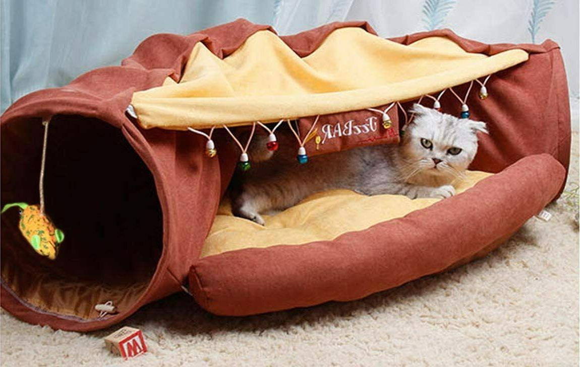 Cat Toys Collapsible Tunnel Channel Cozy Cave