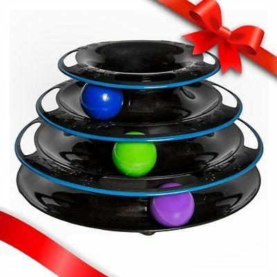 Amazing Cat Roller Toy By Easyology Fun 3-Level Ball Track