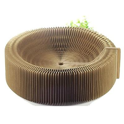 BobbyPet Cat Scratcher Lounge Bed - Collapsible Round Shape