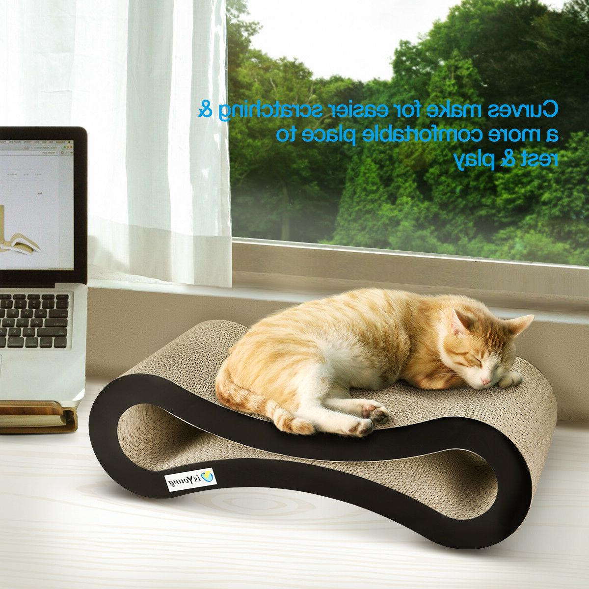 Cat Scratching Board Lounge Play Rest Sleep Cardboard Bed Ma