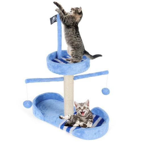28 7 cat tree scratching post furniture