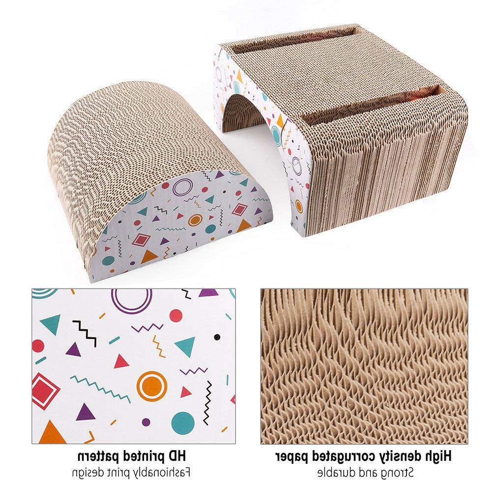 Cat Scratching Post House Bed Board Pad Toy Catnip