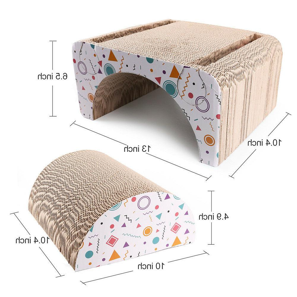 Cat Scratching House Board Pad Toy Catnip