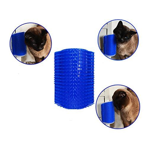 Homiego Cat with Catnip, Massage Brush Toy Tool for Cats with Fur