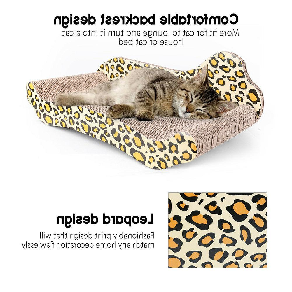 17'' Sofa Design Cat Scratching Corrugated Board Toy Scratch