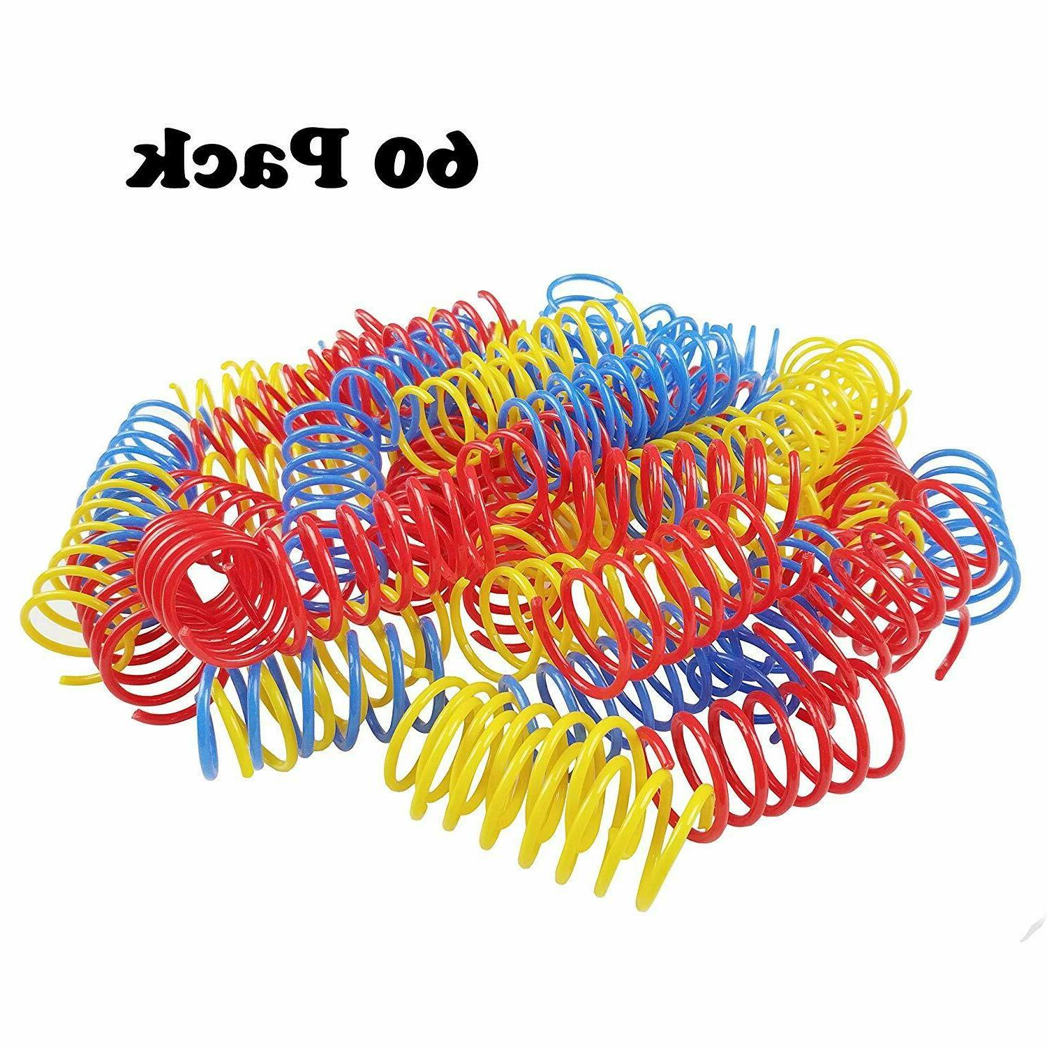Cat Spring Plastic Colorful Coil Spiral Springs Pet Interactive Toys