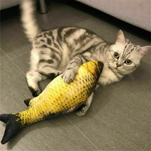 us realistic cat toy fish catnip mint